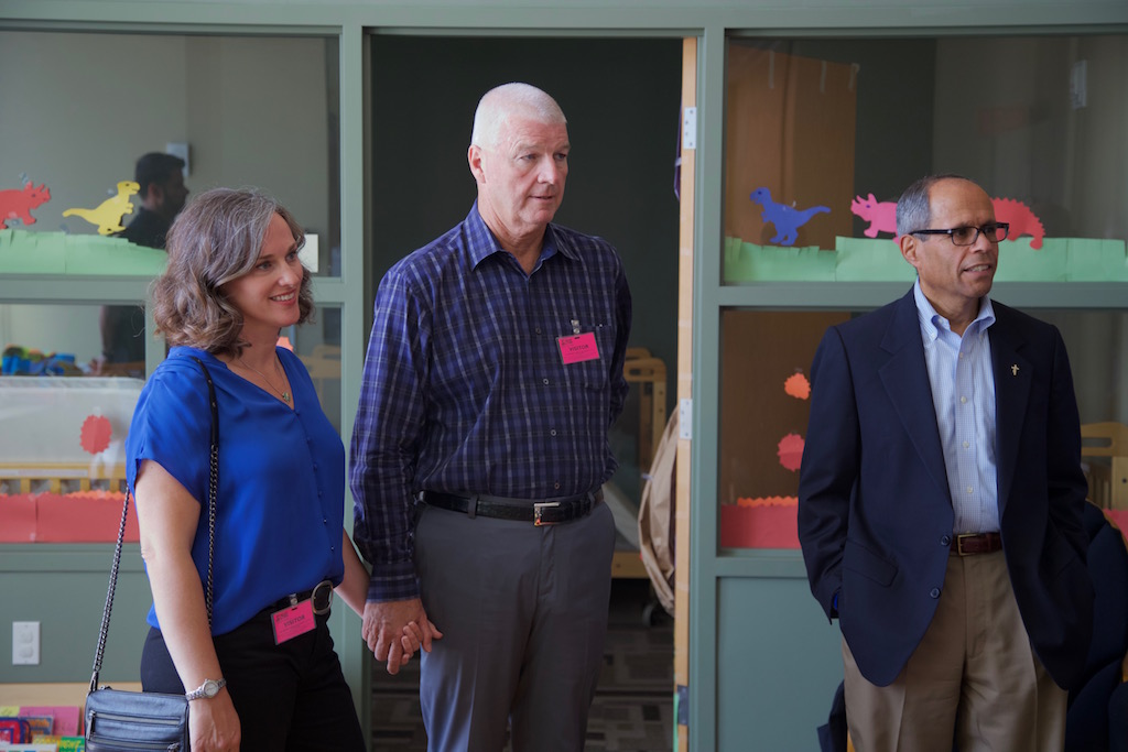 Stephanie, Pat and Deacon Jim